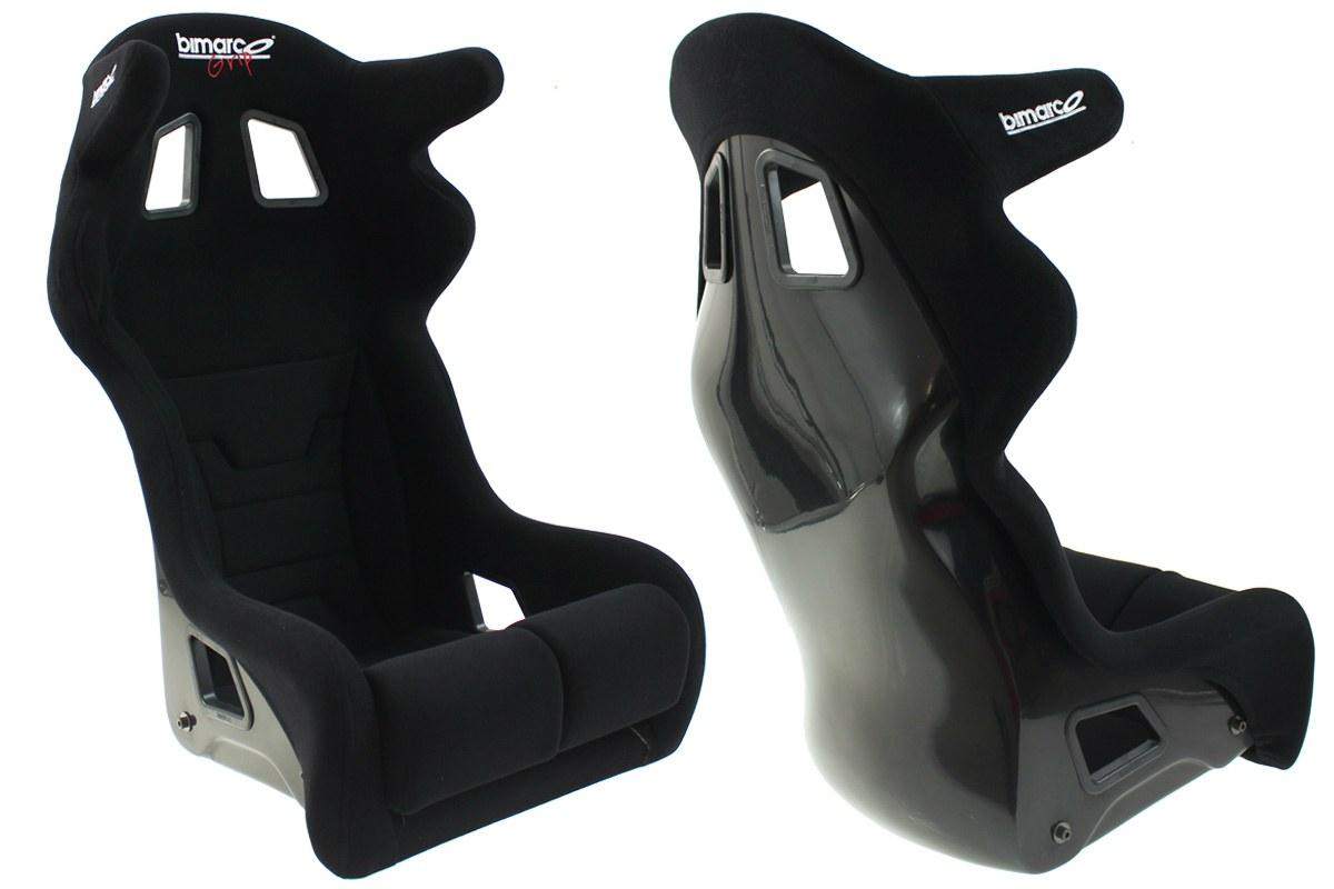 Fotel Sportowy Bimarco Grip Welur Black HANS FIA - GRUBYGARAGE - Sklep Tuningowy